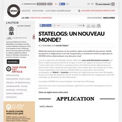 [Live] Statelogs: Un nouveau monde? » Article » OWNI, Digital Journalism