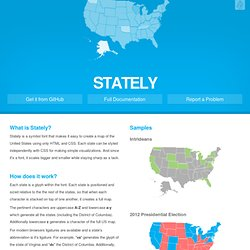 Stately | The simple map font
