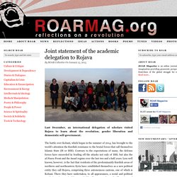 Joint statement of the academic delegation to Rojava