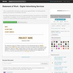 Statement of Work - Digital Advertising Services