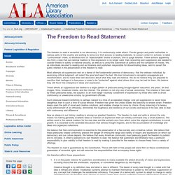 The Freedom to Read Statement
