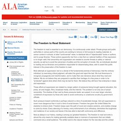 The Freedom to Read - ALA