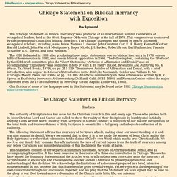 Chicago Statement on Biblical Inerrancy