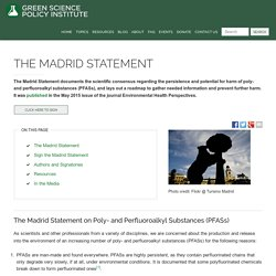 Madrid Statement On Fluorochemicals