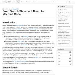 From Switch Statement Down to Machine Code - Ranting @ 741 MHz