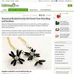 Statement Beaded Jewelry Set-Create Your Own Ring and Necklace