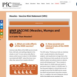 Measles – Vaccine Risk Statement (VRS) – Physicians for Informed Consent