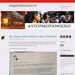 The Cooper Union releases a press statement