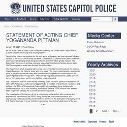 1/11/21 Statement from Acting Chief Yogananda Pittman
