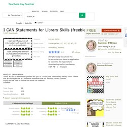 I CAN Statements for Library Skills (freebie) by Summer Pittman