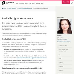 Available rights statements