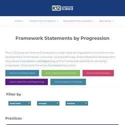 Framework Statements by Progression – k12cs.org