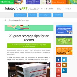 20 great storage tips for art rooms