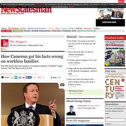 How Cameron got his facts wrong on workless families