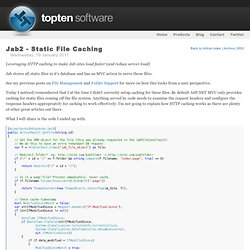 Jab2 - Static File Caching -Topten Software