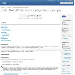 Static NAT-PT for IPv6 Configuration Example
