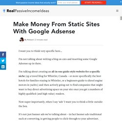 Make Money From Static Sites With Google Adsense