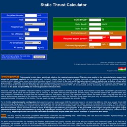 Static Thrust Calculator - STRC