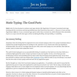 Static typing: the good parts - Jos de Jong