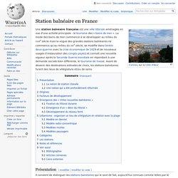 Station balnéaire en France