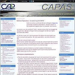 Station d'épuration : le maire reçoit CAPAS - CAP Action Solidarite Clohars Carnoet