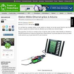 Station Météo Ethernet grâce à Arduino