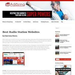 Best Radio Station Websites