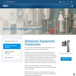 Stationary Equipment Positioner