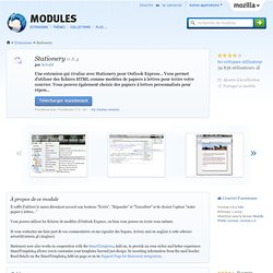 Stationery :: Modules pour Thunderbird