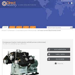 Compresseur à piston haute pression refroidi par eau (stationnaire) - 315 - 590 m³/h, max 400 bar (g)