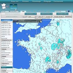 INFOCLIMAT Cartes des stations météo en temps réel en France et en Europe