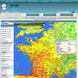 Cartes des stations météo en temps réel en France, en Europe et dans le Monde — archives depuis 1880