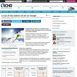 Le top 20 des stations de ski sur Google - L'Echo Touristique