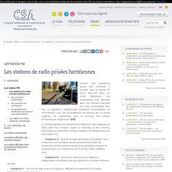 Les stations de radio privées hertziennes / Les radios FM / Les stations de radio / Radio