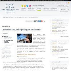 Les stations de radio publiques hertziennes / Les radios FM / Les stations de radio / Radio