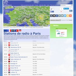 Stations de radio à Paris, France / Radio stations in Paris, France — Radiomap.eu