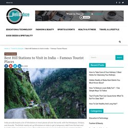 15+ Best Hill Stations to Visit in India