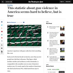This statistic about gun violence in America seems hard to believe, but is true