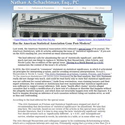 Schachtman Law » Has the American Statistical Association Gone Post-Modern?