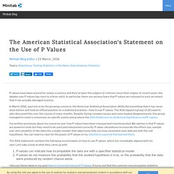 The American Statistical Association's Statement on the Use of P Values
