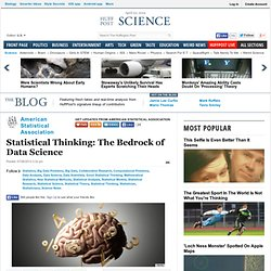 Statistical Thinking: The Bedrock of Data Science