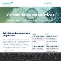 Netquest - Statistical Calculators
