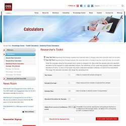 DSS Research: Statistical Power Calculator