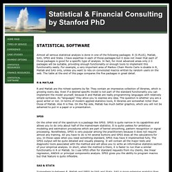 Statistical Consulting in R, Matlab, SAS, SPSS, Stata