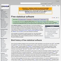 Free statistical software