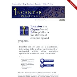 Incanter: Statistical Computing and Graphics Environment for Clojure