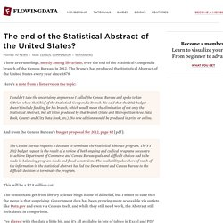 The end of the Statistical Abstract of the United States?