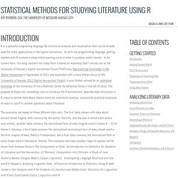 Statistical Methods for Studying Literature Using R