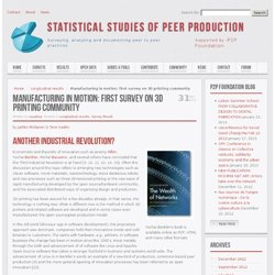 Statistical Studies of Peer Production » Manufacturing in motion: first survey on 3D printing community