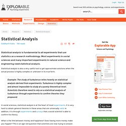 DMP - Statistical Analysis and Research Methodology